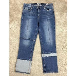 PAIGE Jacqueline Seamed Crop Straight Jeans